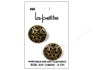 LaPetite Shank Buttons 3/4 in. Brass #960 2pc.