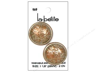 LaPetite Shank Buttons 1 1/8 in. Silver #969 2 pc.