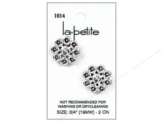 LaPetite Shank Buttons 3/4 in. Silver #1014 2 pc.