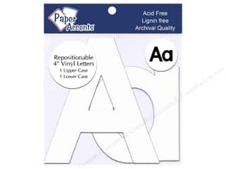 "stickers: Paper Accents Adhesive Vinyl 4 in. Letters ""Aa"" 2 pc. Removable White"