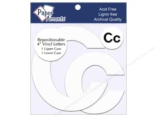 "stickers: Paper Accents Adhesive Vinyl 4 in. Letters ""Cc"" 2 pc. Removable White"