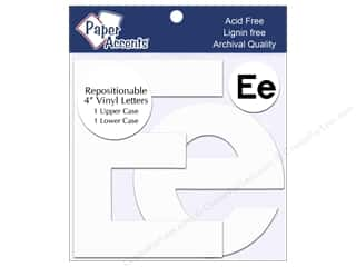 "stickers: Paper Accents Adhesive Vinyl 4 in. Letters ""Ee"" 2 pc. Removable White"