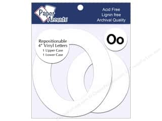 "craft & hobbies: Paper Accents Adhesive Vinyl 4 in. Letters ""Oo"" 2 pc. Removable White"
