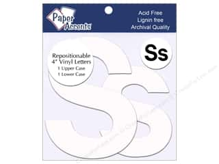 "Paper Accents Adhesive Vinyl 4 in. Letters ""Ss"" 2 pc. Removable White"