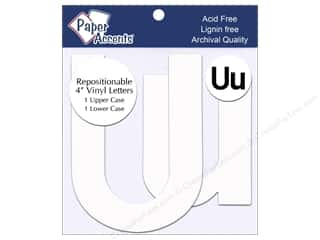 "Paper Accents Adhesive Vinyl 4 in. Letters ""Uu"" 2 pc. Removable White"