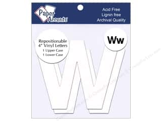"craft & hobbies: Paper Accents Adhesive Vinyl 4 in. Letters ""Ww"" 2 pc. Removable White"