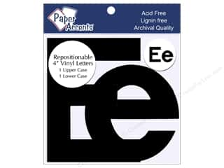 "stickers: Paper Accents Adhesive Vinyl 4 in. Letters ""Ee"" 2 pc. Removable Black"