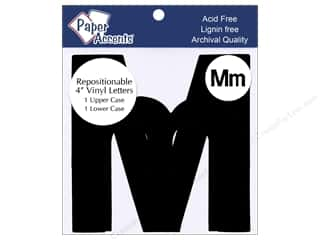 "scrapbooking & paper crafts: Paper Accents Adhesive Vinyl 4 in. Letters ""Mm"" 2 pc. Removable Black"