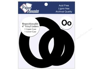 "Paper Accents Adhesive Vinyl 4 in. Letters ""Oo"" 2 pc. Removable Black"