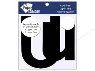 "craft & hobbies: Paper Accents Adhesive Vinyl 4 in. Letters ""Uu"" 2 pc. Removable Black"