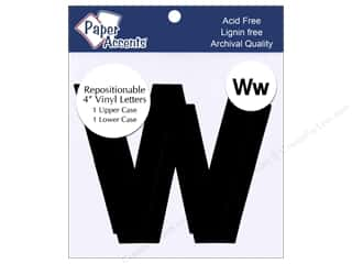 "Paper Accents Adhesive Vinyl 4 in. Letters ""Ww"" 2 pc. Removable Black"