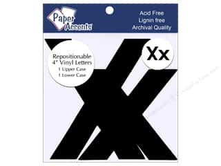 "scrapbooking & paper crafts: Paper Accents Adhesive Vinyl 4 in. Letters ""Xx"" 2 pc. Removable Black"