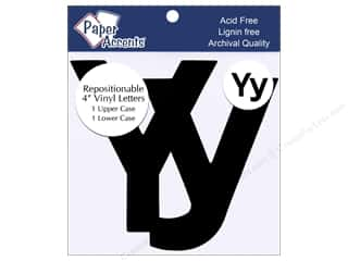"Paper Accents Adhesive Vinyl 4 in. Letters ""Yy"" 2 pc. Removable Black"