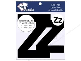 "Paper Accents Adhesive Vinyl 4 in. Letters ""Zz"" 2 pc. Removable Black"
