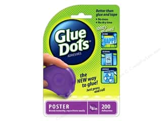 Glues/Adhesives: Glue Dots Dispenser Poster 3/8 in. 200 pc.