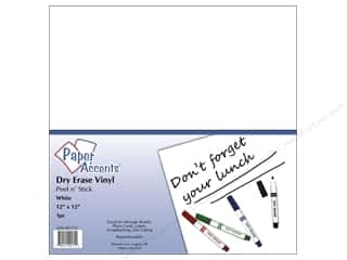 die cuts: Paper Accents Adhesive Vinyl 12 x 12 in. Removable White Dry Erase