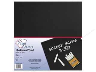 die cuts: Paper Accents Adhesive Vinyl 12 x 12 in. Removable Black Chalkboard
