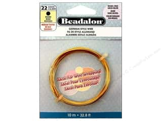 Beadalon German Style Wire 22ga Round Gold 32.8 ft.