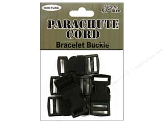 beading & jewelry making supplies: Pepperell Parachute Cord Bracelet Buckle 5/8 in. 5 pc