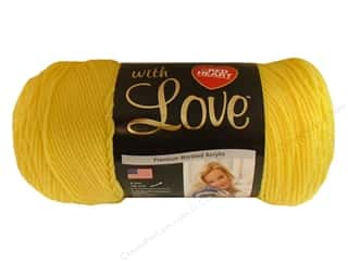 Everything You Love Sale: Red Heart With Love Yarn #1201 Daffodil 370 yd.