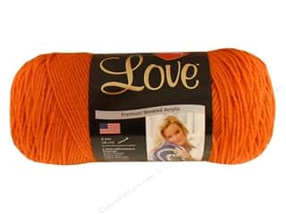 Red Heart With Love Yarn 370 yd. #1252 Mango
