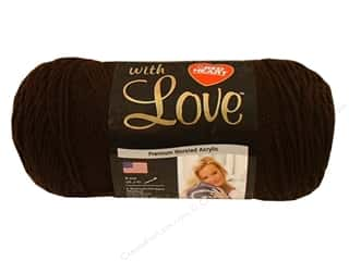 yarn: Red Heart With Love Yarn 370 yd. #1321 Chocolate