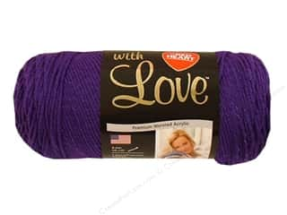 yarn & needlework: Red Heart With Love Yarn #1530 Violet 370 yd.