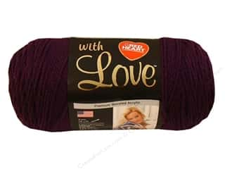 Red Heart With Love Yarn 370 yd. #1541 Grape Jam