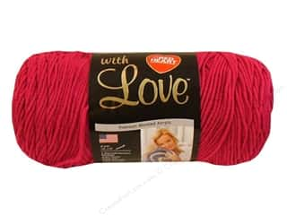 yarn: Red Heart With Love Yarn 370 yd. #1701 Hot Pink