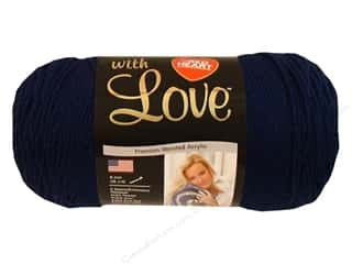 yarn & needlework: Red Heart With Love Yarn 370 yd. #1801 Navy