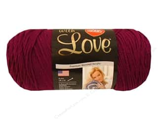Red Heart With Love Yarn 370 yd. #1907 Boysenberry