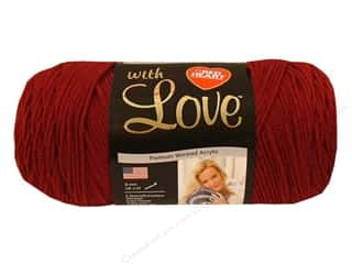 yarn & needlework: Red Heart With Love Yarn 370 yd. #1914 Berry Red
