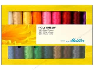 Holiday Gift Idea Sale Sock Purses: Mettler Thread Gift Set Poly Sheen Solids 18pc