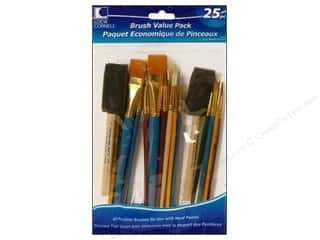 Paint Brush Flat: Loew Cornell Brush Set Value Pack 25 pc