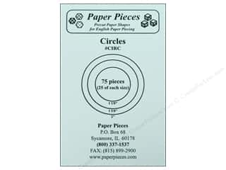 Pieces Be With You: Paper Pieces Precut Paper Shapes Circles Assorted Sizes 75 pc.