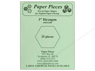 Paper Pieces Precut Paper Shapes Hexagon 3 in. 25 pc.