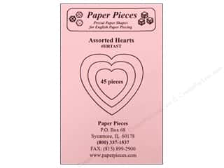 Pieces Be With You: Paper Pieces Precut Paper Shapes Hearts Assorted Sizes 45 pc.