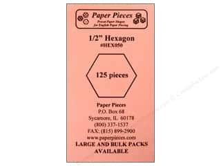 Paper Pieces Precut Paper Shapes Hexagon 1/2 in. 125 pc.