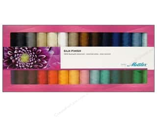 Holiday Gift Idea Sale Sock Purses: Mettler Thread Gift Set Mercerized Silk Finish Cotton 28pc