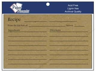 Cards: Paper Accents Recipe Card 4 x 6 in. Brown Bag 25 pc.