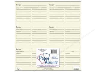 Cards: Paper Accents Recipe Card Sheet 12 x 12 in. Birch (25 sheets)