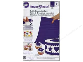"Edible Decorations / Icing / Sprinkles: Wilton Edible Decorations Sugar Sheets Paper 8""x 11"" Purple"