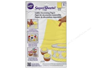 "Wilton Edible Decorations Sugar Sheets Paper 8""x 11"" Light Yellow"