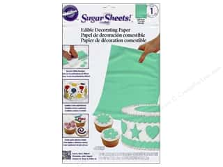 "Edible Decorations / Icing / Sprinkles: Wilton Edible Decorations Sugar Sheets Paper 8""x 11"" Light Green"