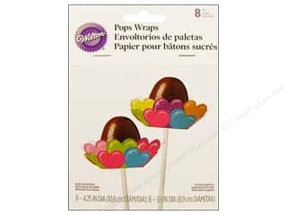 Wilton Pops Wraps 8 pc. Hearts