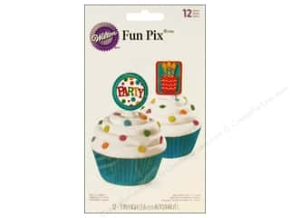 "Wilton Decorations Fun Pix 3"" Party 12pc"