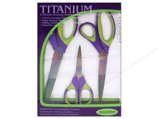 Sullivans Titanium Sewing Scissors Set 3pc