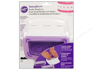 Wilton Tools Sugar Sheet Border Punch Set with Scallop Insert