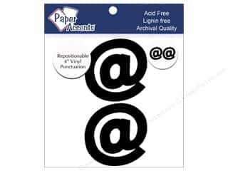 "stickers: Paper Accents Adhesive Vinyl 4 in. Punctuation ""@"" 2 pc. Removable Black"