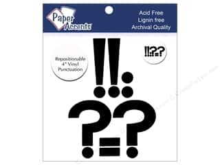 "scrapbooking & paper crafts: Paper Accents Adhesive Vinyl 4 in. Punctuation ""!?-."" 8 pc. Removable Black"